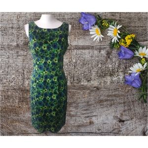 Floral Green Casual Dress- Women's Size 8